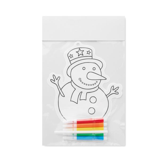 Globo colorear muñeco de nieve