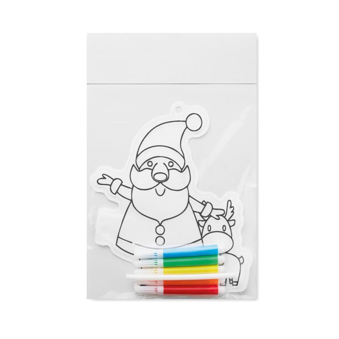 Globo para colorear Papá Noel