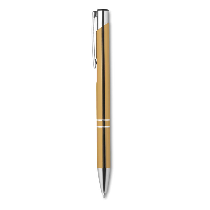 Push button pen with black in
