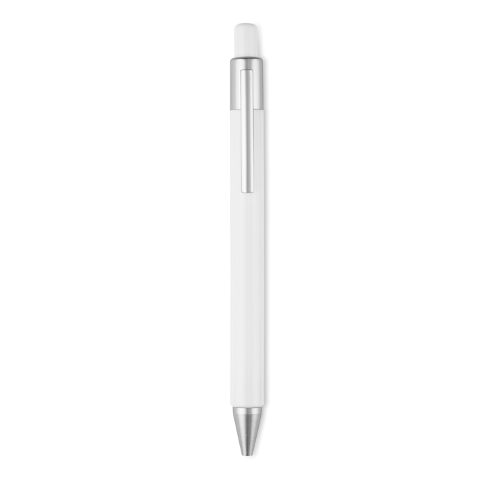 Plastic Push type pen blue in