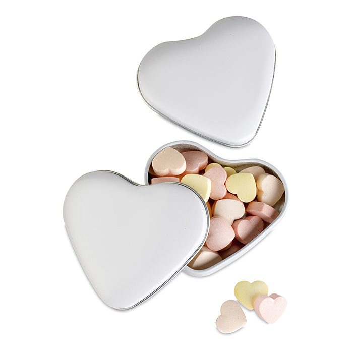 Caja corazón caramelos
