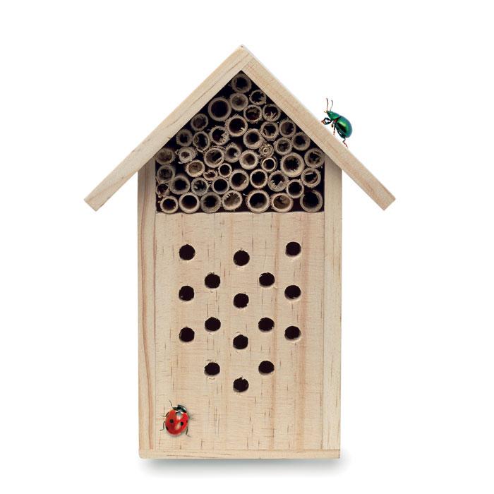 Caja insectos madera