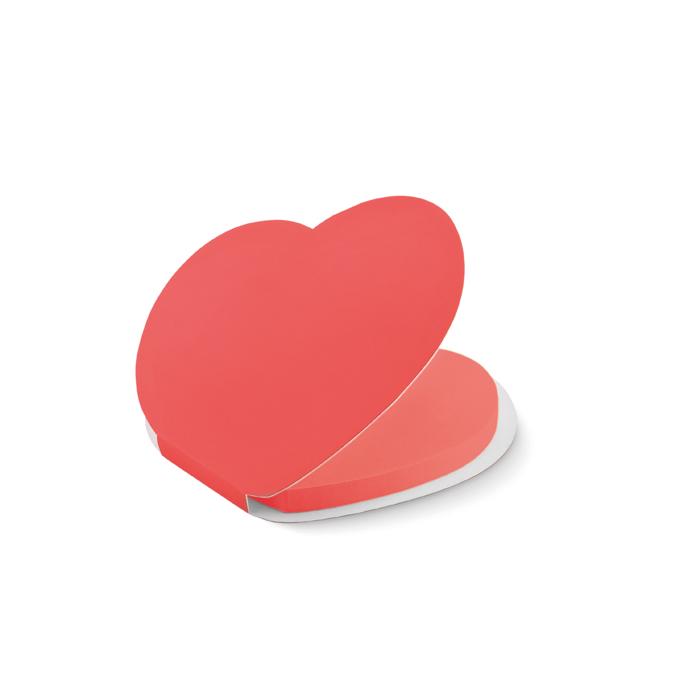 Corazón de notas adhesivas