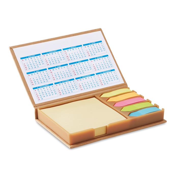 Set de notas y calendario